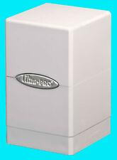 ULTRA PRO METALLIC SILVER SATIN TOWER DECK BOX New Card Dice Compartment MTG