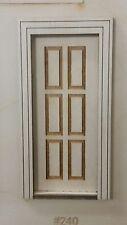 Traditional raised 6 panel Exterior Door 1:24 scale