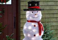 Sharper Image 5 ft Pop Up Snowman with LED White Lights