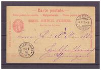Schweiz, Ganzsache 10 Rappen Bern nach Hüttensteinach 25.01.1896