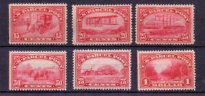 USA 1912-13 15c TO $1 PARCEL POSTS ( 6 ) MH - FAULTS SEE DESCRIPTION