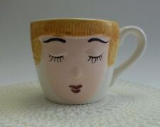 """Vintage 1960's """"FOR MOM ONLY"""" Mug / Cup - Face Eyes Red Lips - Mother's Day Gift"""