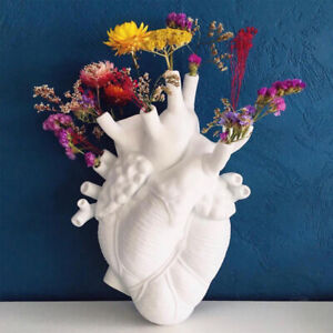 Anatomical Heart Shaped Flower Vase Planter for Home/Hotel/Office Decoration