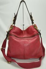 Fossil Explorer Raspberry Pink Leather Top Handle Crossbody Bag
