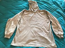 IMPERFECT Adidas Soft Velour Pullover Hoodie Men's size L Grey TS8