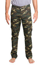 Victorious Mens Camouflage Cargo Slim Fit Pants AR170 - FREE SHIPPING