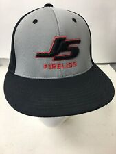 c3ca0cd2b8e35 Richardson PTS Baseball Cap Solid Black with Gray Embroidered Front Logo L    XL
