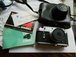 Zorki  4 Rangefinder Camera with Jupiter-8M  2/50 Lens in Case with instructions