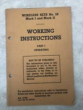 More details for witeless sets no.19 mark 1 & 2 working instructuons za3109