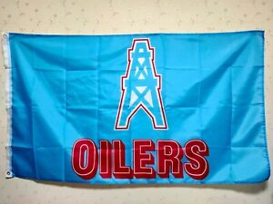 Houston Oilers Flag 3X5 FT NFL  Banner Polyester