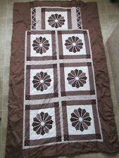 Travel Quilt W/ Pillow  Reversible Southern Floral  Patchwork Specially Made