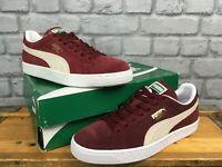 PUMA CLASSIC MENS SUEDE BURGUNDY TRAINERS RRP £55 MANY SIZES CASUAL
