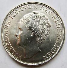 Curacao, (under Netherlands) 1944-D Silver 2 1/2 Gulden Crown Sized