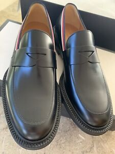 Gucci Men's Black Leather Loafer   Shoe Size G7  US8  New in box.