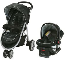 Graco Baby Aire3 Travel System Stroller with SnugLock 30 Infant Car Seat Gotham