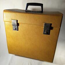 Retro Vintage Vinyl Record Case Beige/Brown