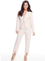 V By Very Blush Petite Tailored Smart 2 Piece Trouser Jacket Blazer Suit 6 to 12