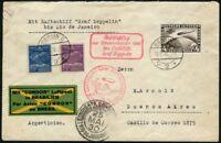 Zeppelin Dt. Reich 1930 Südamerikafahrt Berlin Anschlußflug Rio Si 57 TT /369