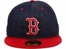 Boston Red Sox New Era MLB Team Color Denim 59FIFTY Hat - 7 5/8