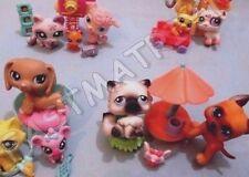Littlest Pet Shop Lot 6 RANDOM Pcs (Cat Dog Baby +3 Accessories) +3 Gift Bags!