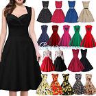 50'S 60'S Rockabilly Dress Vintage Style Swing Retro Housewife Party Dress 6-18