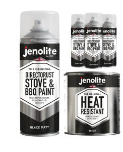 JENOLITE Stove & BBQ Paint - High Temperature Resistant Matt Black Paint