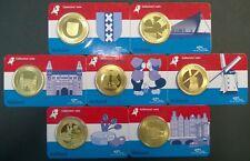 Coincard Holland serie 7 verschillende Kinderdijk Amsterdam Tulp in BU kwaliteit