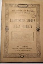 biblioteca del popolo-l'evoluzione storica della famiglia-sonsogno edit.
