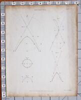 1823 Aufdruck Geometrie Diagramme Architektur