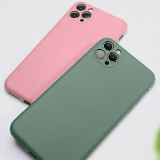 For iPhone 11 Pro Max X XR XS SE 7 8 Gel Liquid Silicone Rubber Protective Case