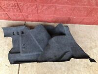 BMW E36 TRIM PANEL LEFT TRUNK CARPET DRIVERS SIDE OEM USED