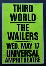 THIRD WORLD The WAILERS Original Promo Concert Poster 1989 Bob Marley Reggae