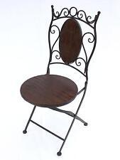 chaise de jardin hx12581 bistrot 93 cm pliante métal et bois