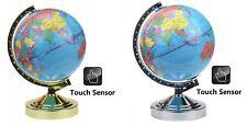 32cm Illuminated World Globe 4 Way Touch Control Lamp Light