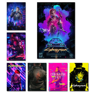 Cyberpunk 2077 Poster Painting for Interior Room Canvas Art Print  Wall Decor
