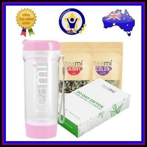 TEAMI DETOX STARTER PACK Skinny Tea Loose Leaf Cleanse Fat Burner Tumbler 600ml