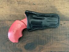Leather Holster For NAA Black Widow With Adjustable Sights (Black)