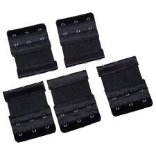 5 Pcs Black Dual Rows Adjustable Bra Extender Hook w Eye Tape B3A2 SHJ