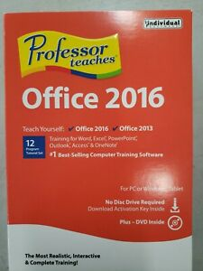 NEW Professor Teaches Office 2016 New Sealed DVD and Download Factory-Sealed