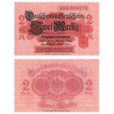 Germany 2 Mark 1914  P-54 Banknotes UNC