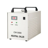 220V Industrial Water Chiller for 0.8KW/1.5KW CNC Spindle Cooling - CW-3000DF