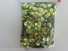 Light Green Sequins 6mm Round Cupped / ~ 40g (4000 pieces)