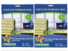 8 PACK - 6 XL and 2 Super Jumbo Vacuum Seal Storage Bag Space Saver Compress Bag