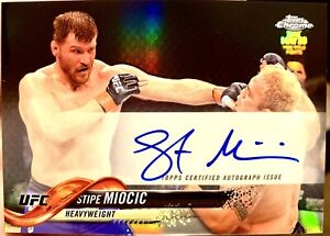 Stipe Miocic 2018 Topps Chrome Auto Is On Card Not A Sticker Mint Cond PSA 10?