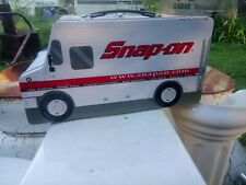 Snap On Tool Racing Truck Metal Lunch Box With Carry Handle