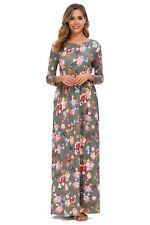 Plus & regular sizes Long Sleeve Maxi Floral Dress