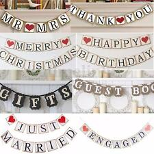 Party Wedding Banner Hanging Baby Shower Garland Photo Props Bunting Sign Decor