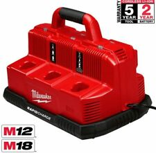 Milwaukee 48-59-1807 M12 18C3 12V and  18V  Rapid 6-Battery Charger Station