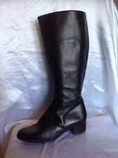 Lotus Black Knee High Leather Boots Size 5