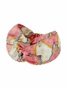 Gucci Snake Rhombus Pink Ivory GG Logo Silk Headband Turban Hair Accessories